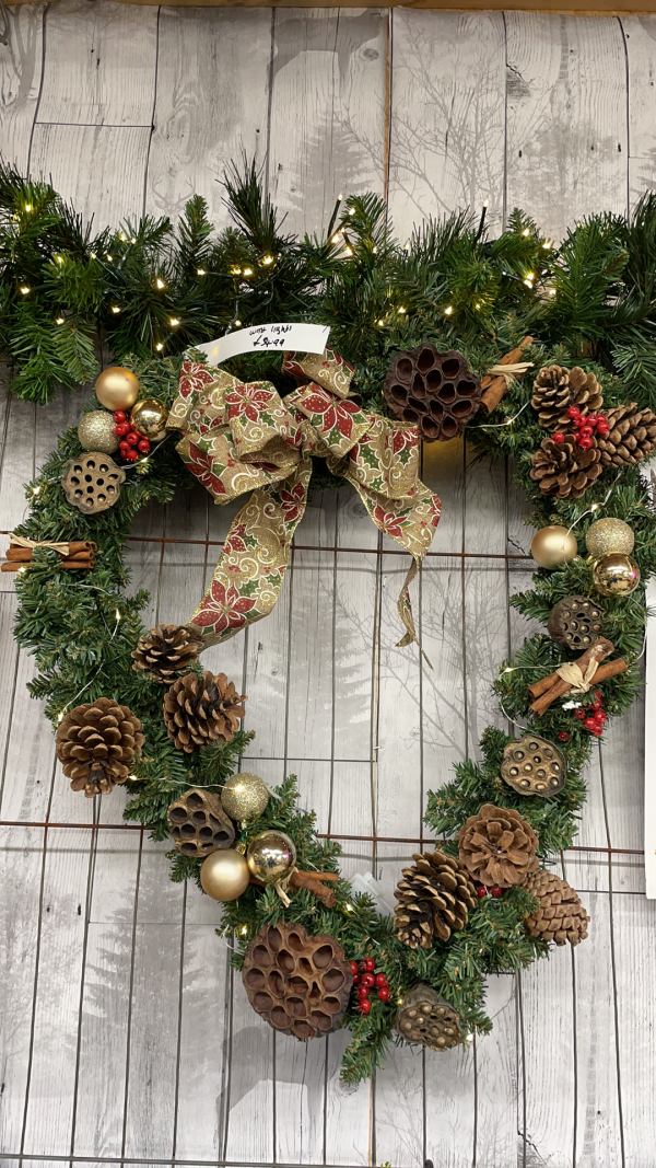 Heart Wreath with Lights | Marl Pits Garden Centre