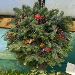 Festive Apple Fruit Ball | Marl Pits Garden Centre