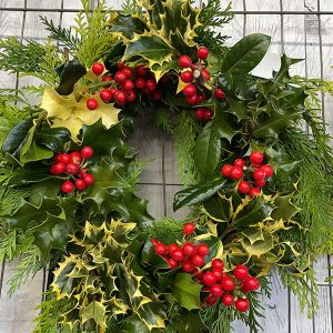 Small Holly Wreath | Marl Pits Garden Centre