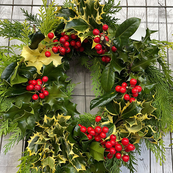 Small Holly Wreath | Marl Pits Garden Centre