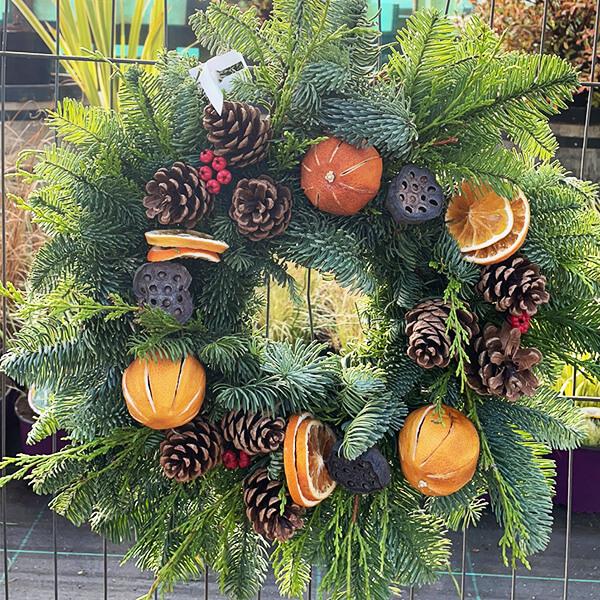 Medium Orange Fruit Wreath | Marl Pits Garden Centre